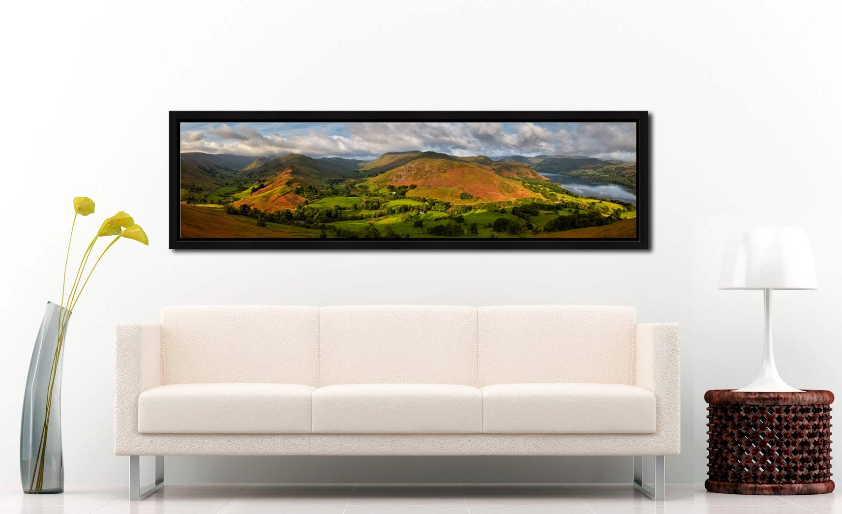 Hallin Fell Panorama - Black oak floater frame with acrylic glazing on Wall
