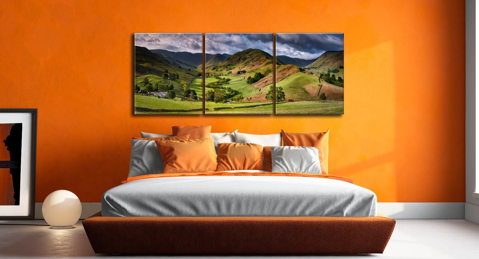 The Martindale Valleys - 3 Panel Canvas on Wall