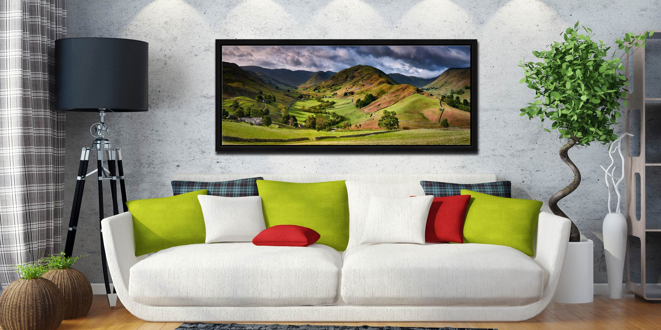 The Martindale Valleys - Black oak floater frame with acrylic glazing on Wall