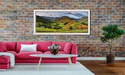 The Martindale Valleys - White Maple floater frame with acrylic glazing on Wall