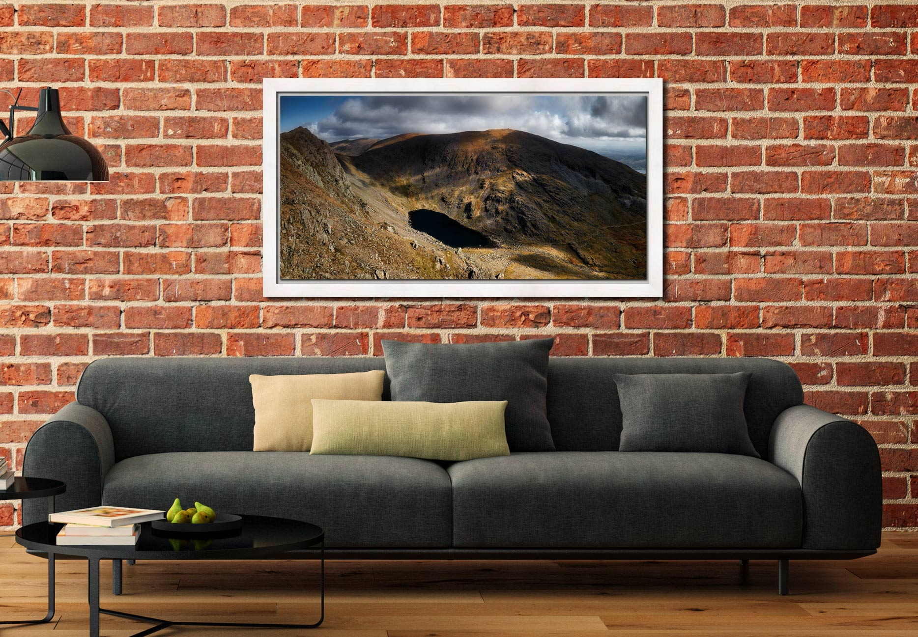 Goats Water and Coniston Old Man - White Maple floater frame with acrylic glazing on Wall