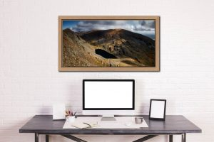 Goats Water and Coniston Old Man - Oak floater frame with acrylic glazing on Wall