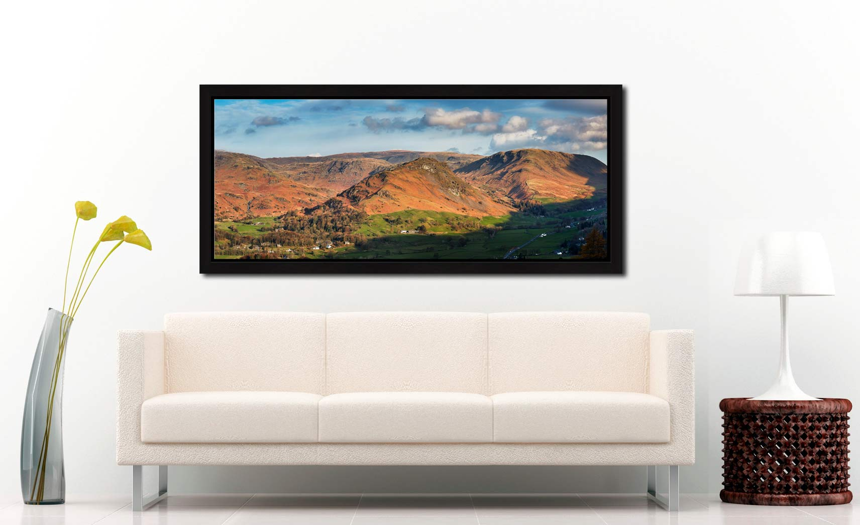 Helm Crag - Black oak floater frame with acrylic glazing on Wall