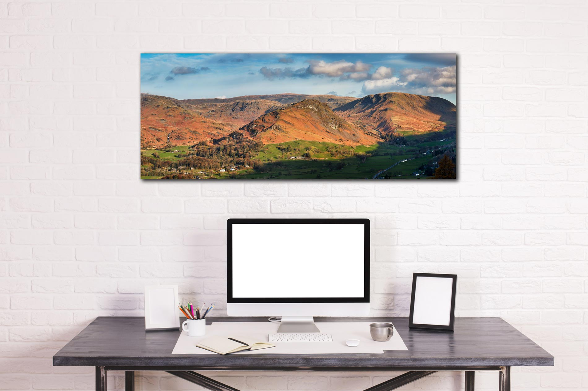 Helm Crag - Print Aluminium Backing With Acrylic Glazing on Wall