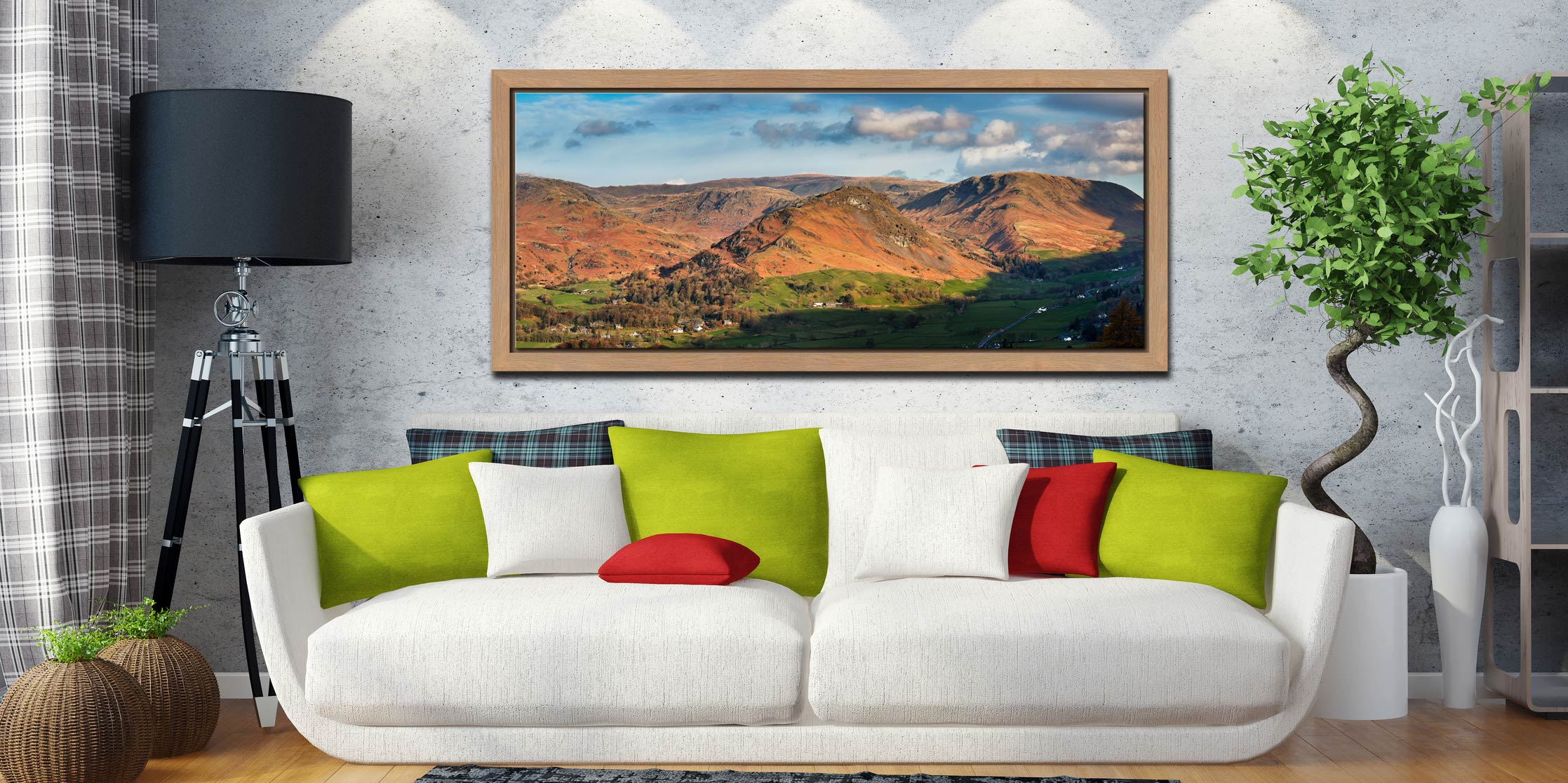 Helm Crag - Oak floater frame with acrylic glazing on Wall
