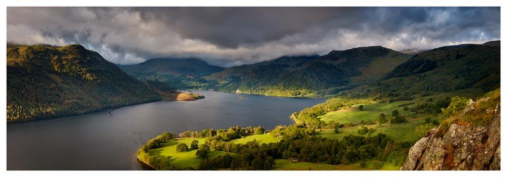 Ullswater Mountains Panorama - Prints of Lake District