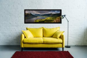 Ullswater Mountains Panorama - Black oak floater frame with acrylic glazing on Wall