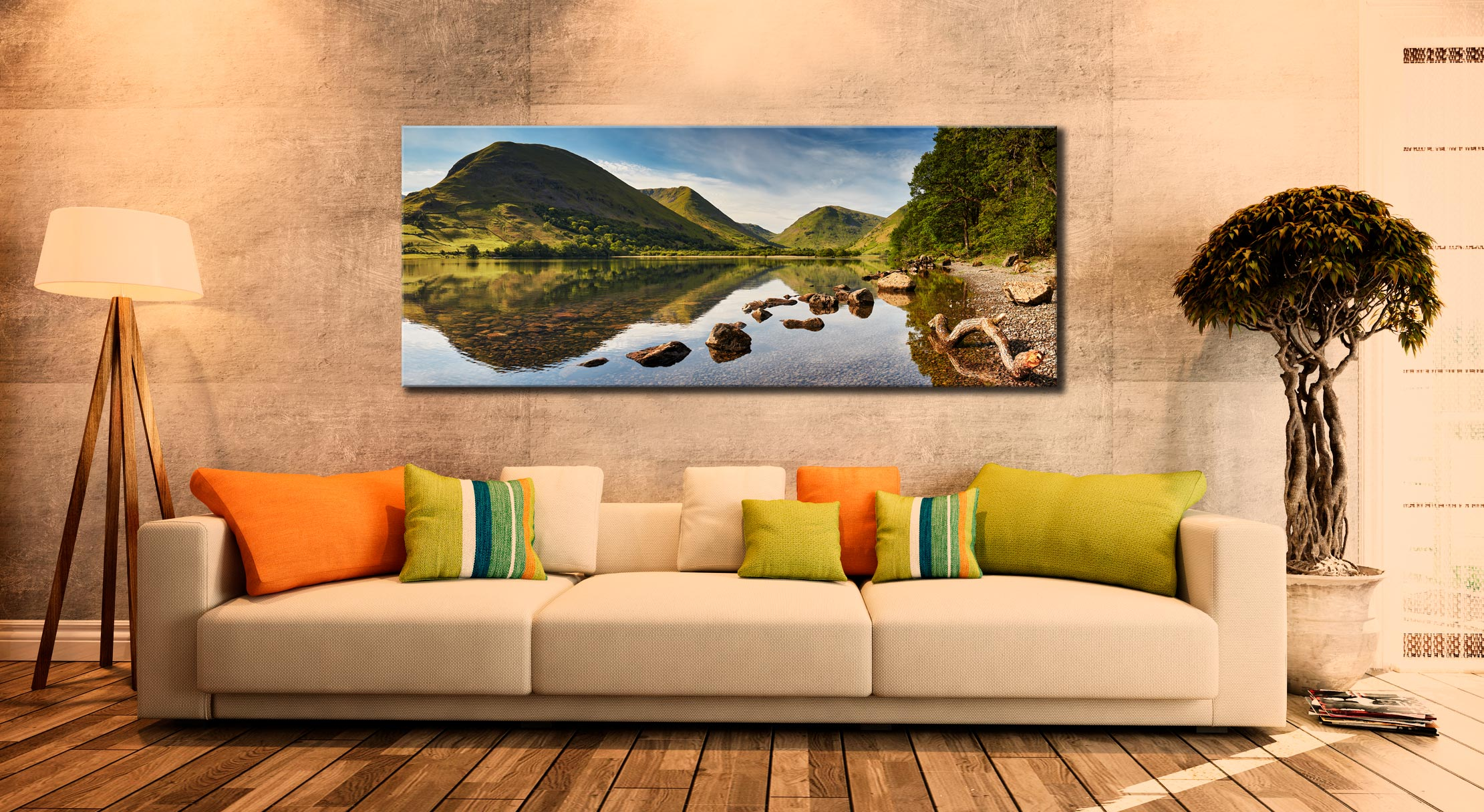 Brothers Water Reflections - Canvas Print on Wall