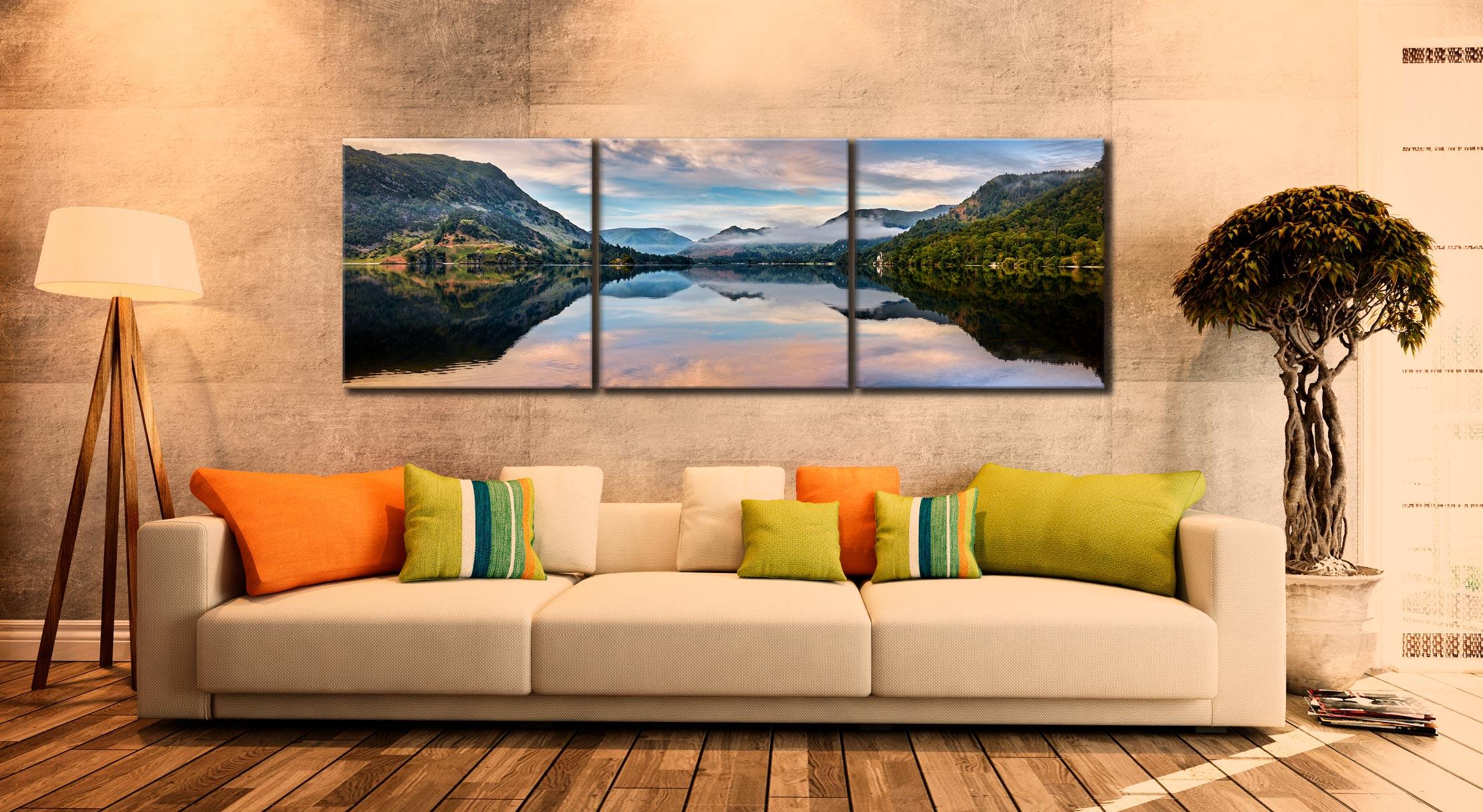 Ullswater Calmness - 3 Panel Canvas on Wall