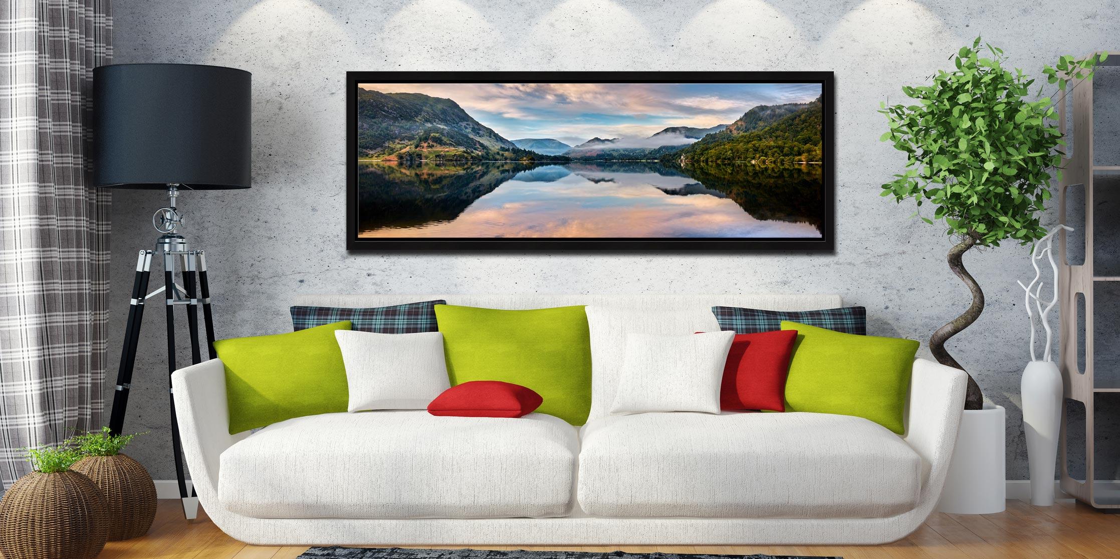 Ullswater Calmness - Black oak floater frame with acrylic glazing on Wall