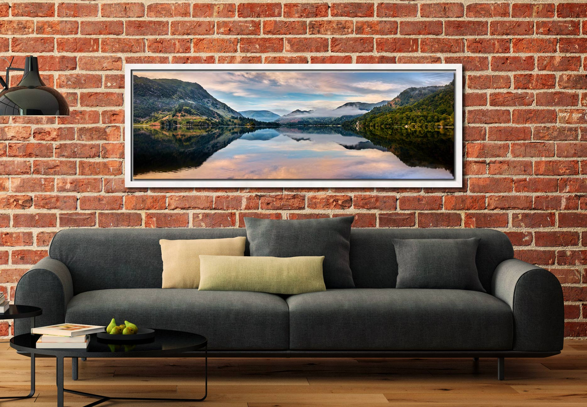 Ullswater Calmness - White Maple floater frame with acrylic glazing on Wall