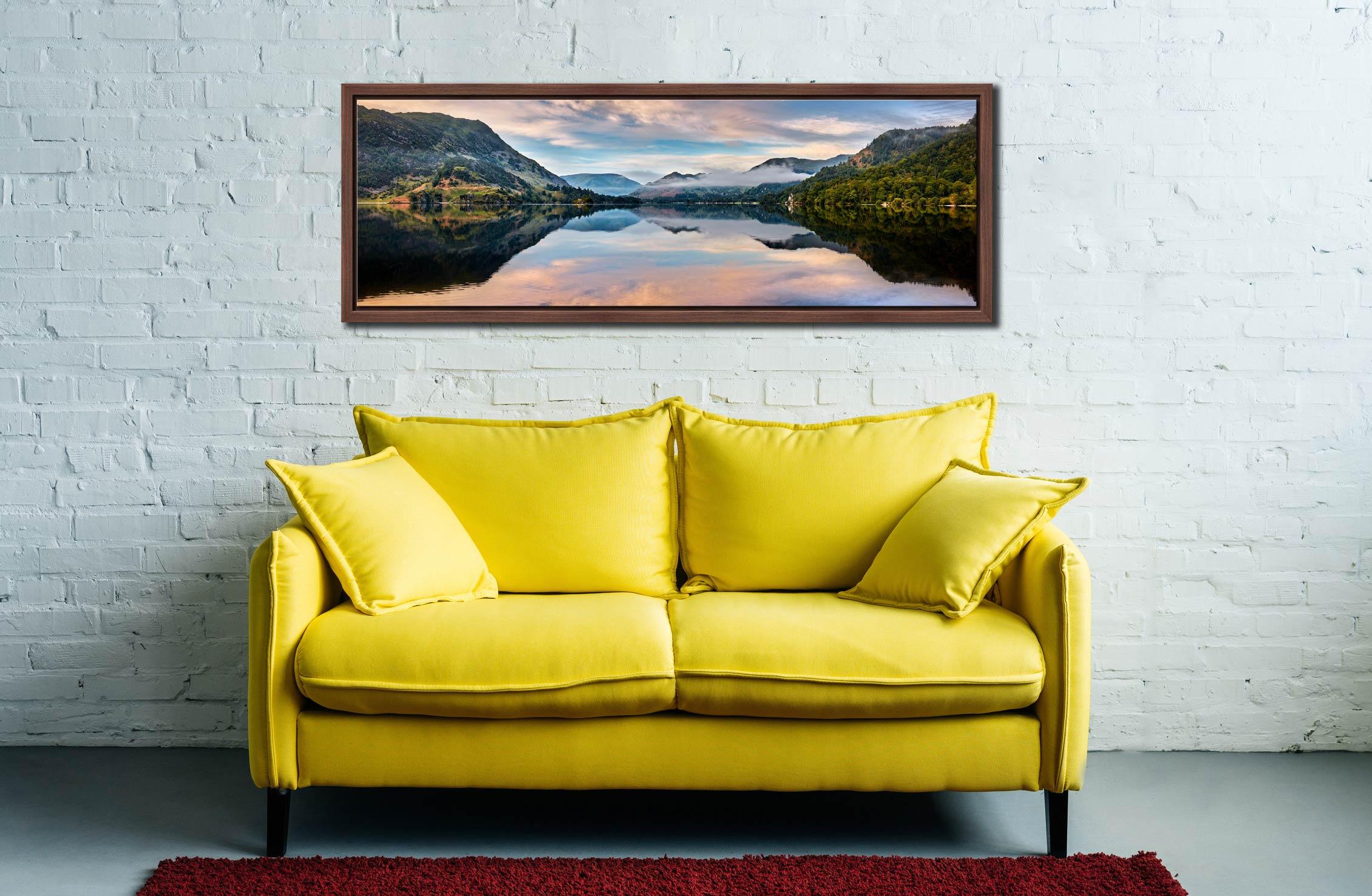 Ullswater Calmness - Walnut floater frame with acrylic glazing on Wall
