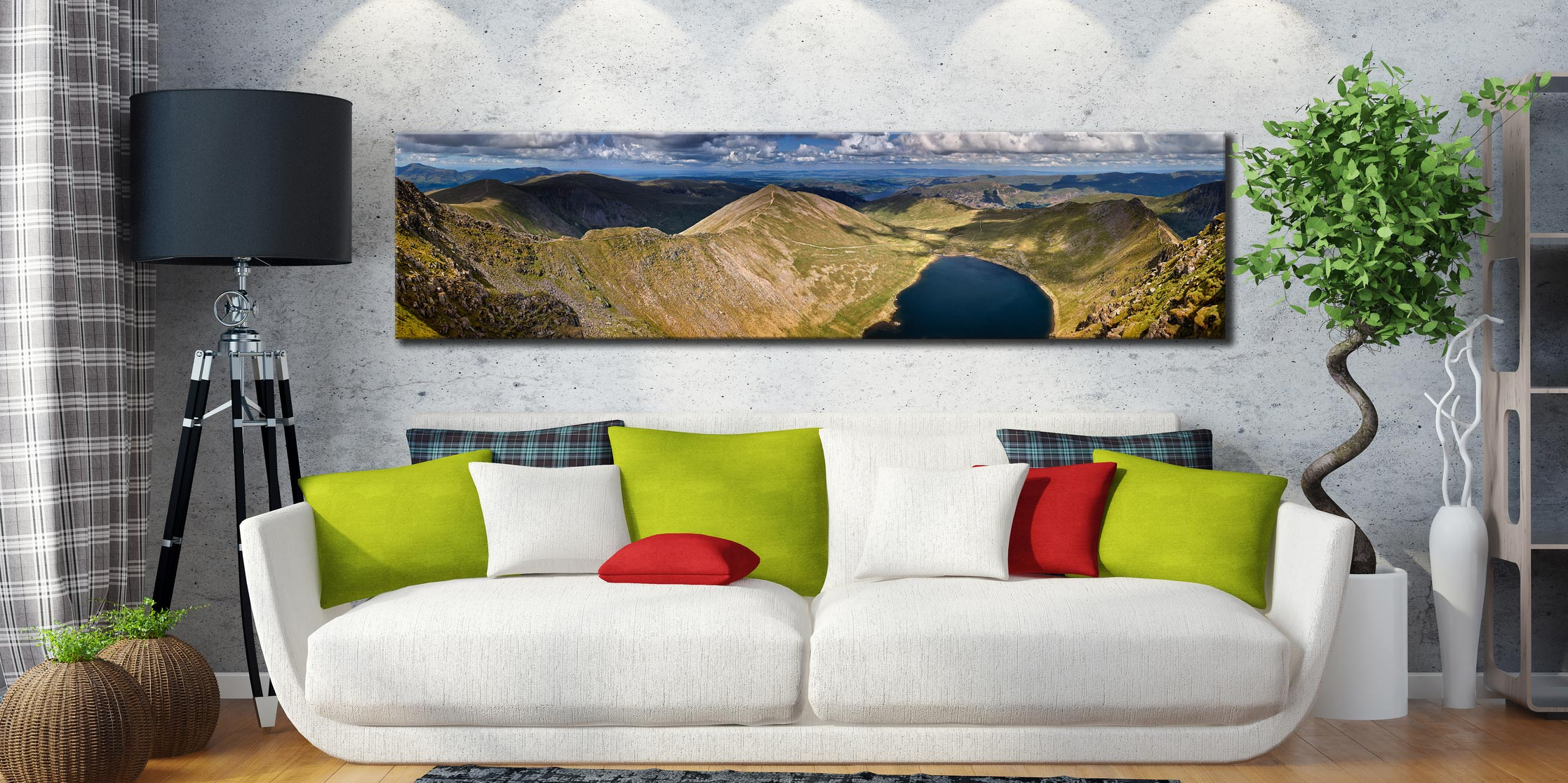 Swirral Edge to Striding Edge - Lake District Canvas on Wall