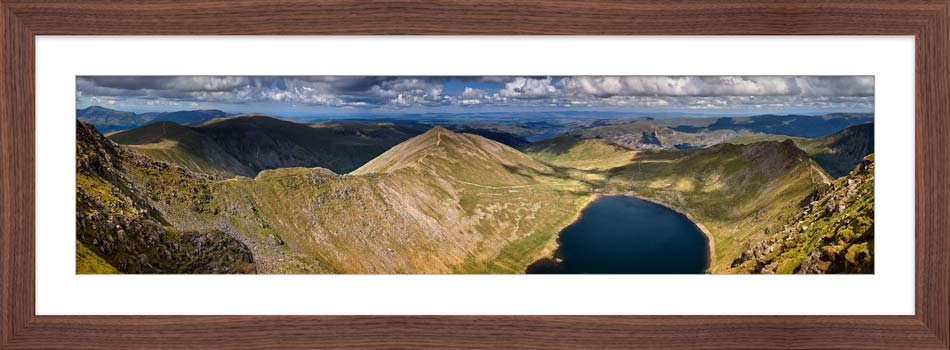 Swirral Edge to Striding Edge - Framed Print with Mount