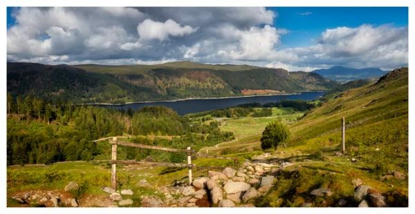 Thirlmere From Path Helvellyn - Lake District Print