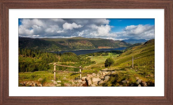 Thirlmere From Path Helvellyn - Framed Print with Mount