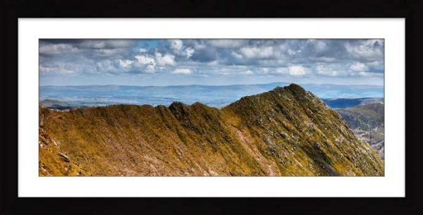 Striding Edge - Framed Print with Mount
