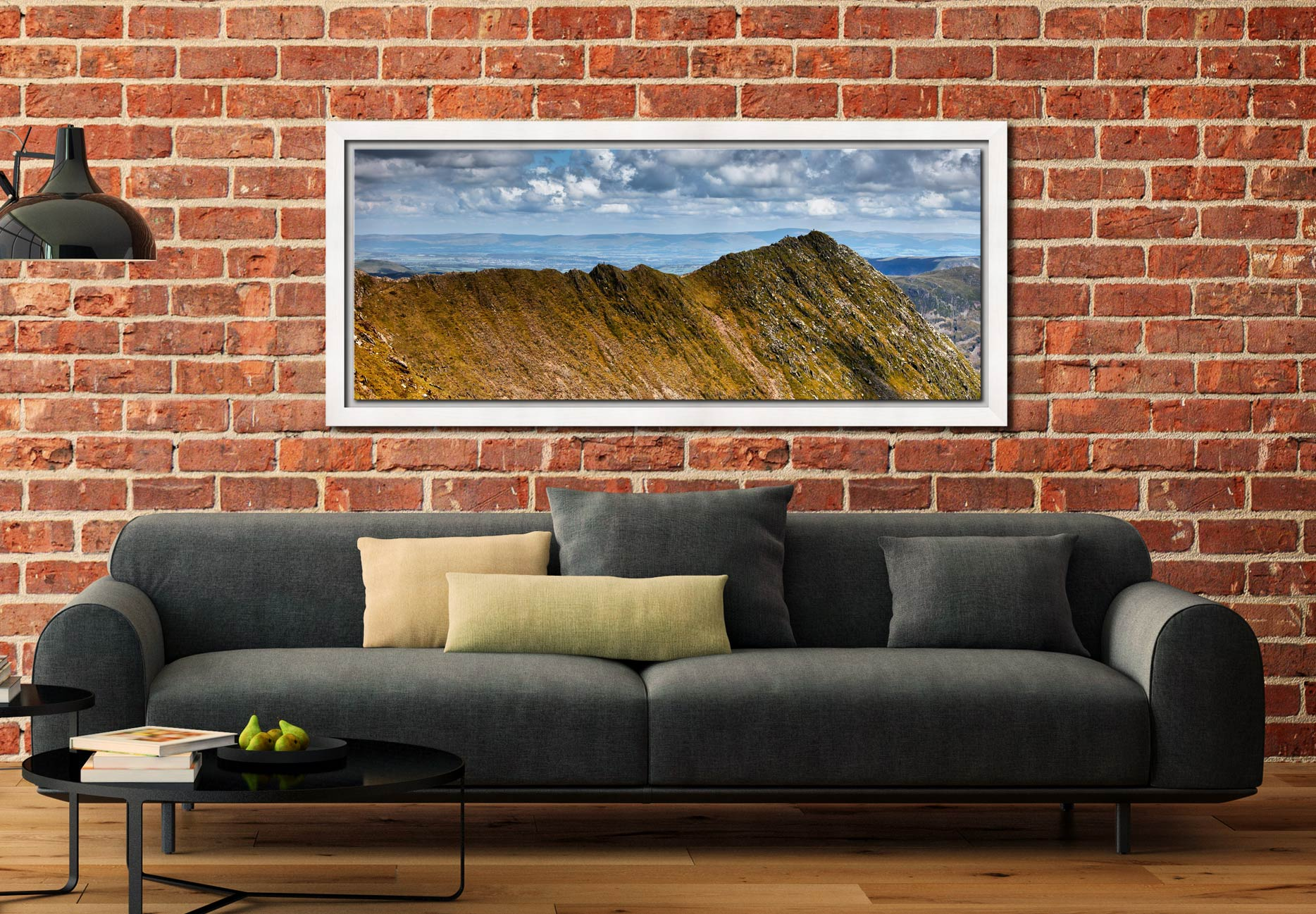 Striding Edge - White Maple floater frame with acrylic glazing on Wall
