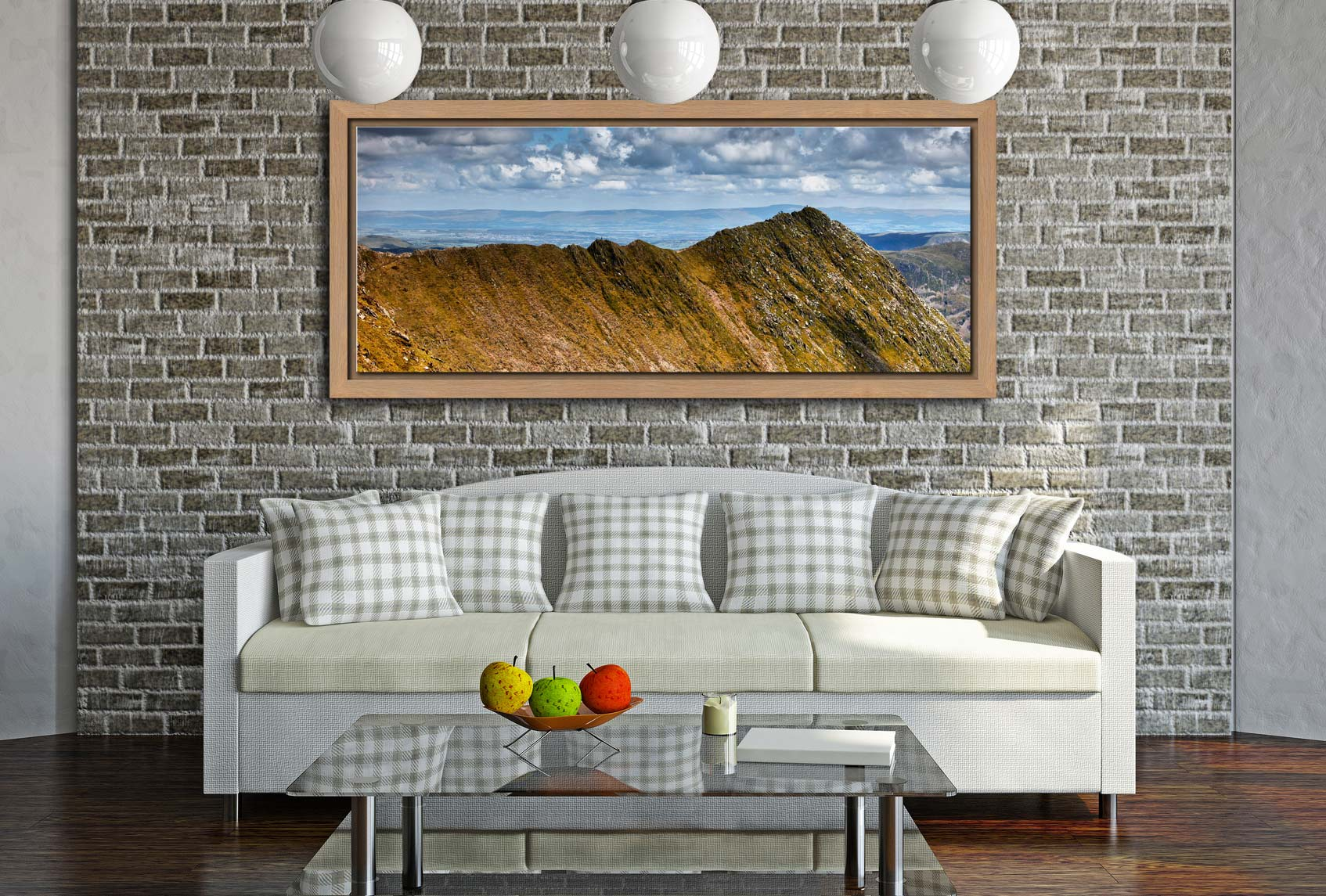 Striding Edge - Oak floater frame with acrylic glazing on Wall