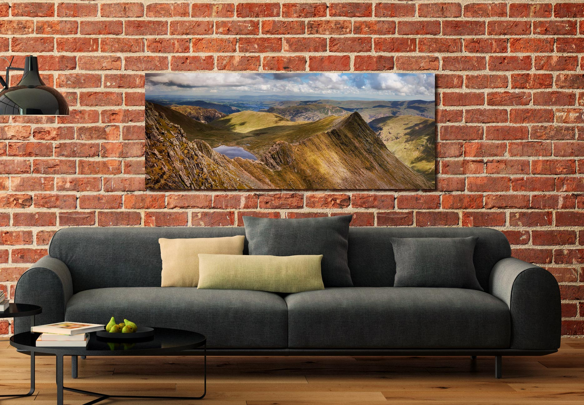 Striding Edge Panorama - Print Aluminium Backing With Acrylic Glazing on Wall