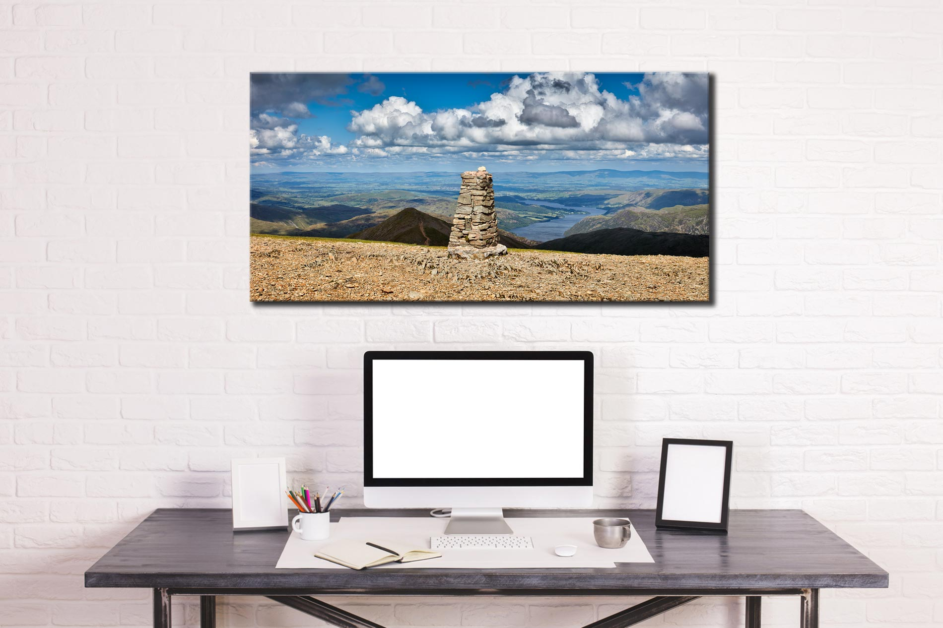 Helvellyn Summit Cairn - Canvas Print on Wall