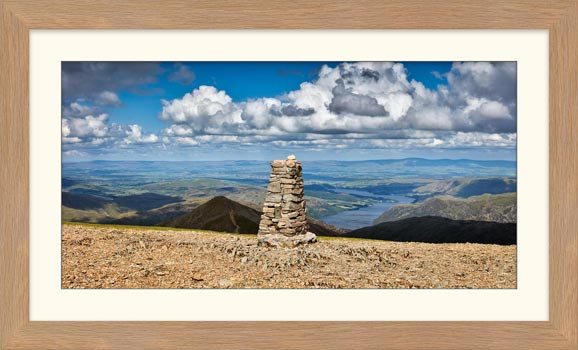 Helvellyn Summit Cairn - Framed Print with Mount