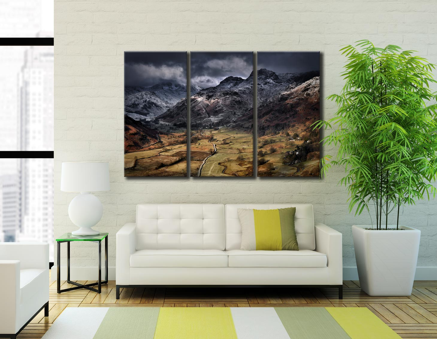 Path To The Pikes - 3 Panel Canvas on Wall