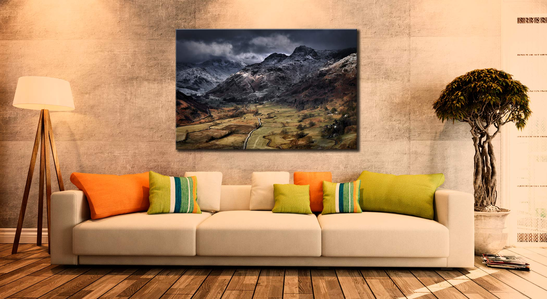 Path To The Pikes - Lake District Canvas on Wall