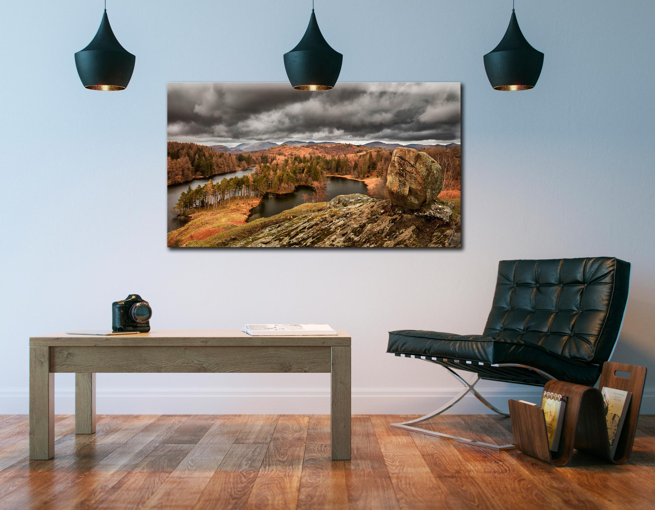 Grey Skies Over Tarn Hows - Canvas Print on Wall