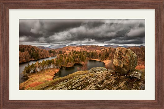 Grey Skies Over Tarn Hows - Framed Print with Mount