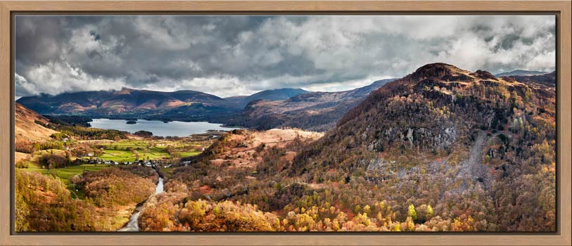 Kings How and Derwent Water - Modern Print
