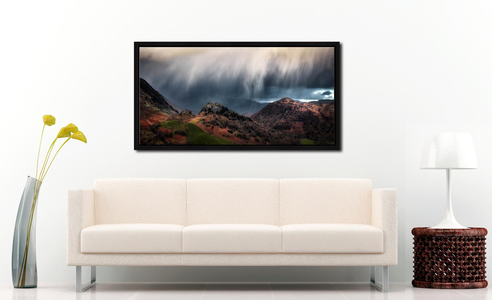 The Rains are a Coming - Black oak floater frame with acrylic glazing on Wall
