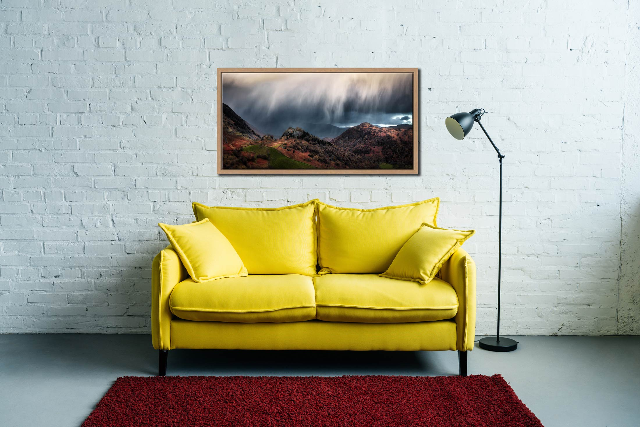 The Rains are a Coming - Oak floater frame with acrylic glazing on Wall