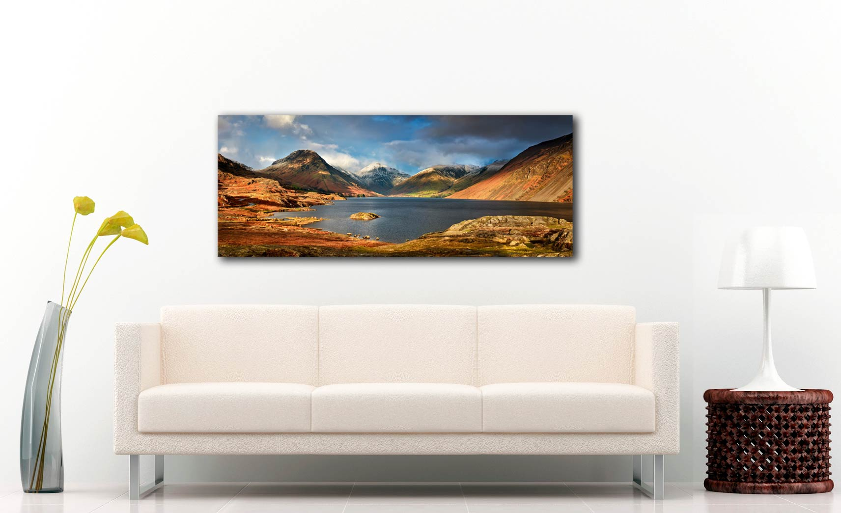 Wast Water Sunlight - Print Aluminium Backing With Acrylic Glazing on Wall