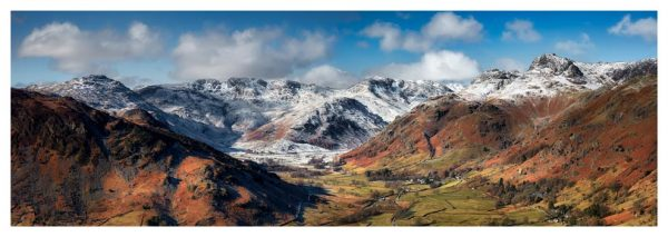 Great Langdale Valley in Winter - Prints of Lake District