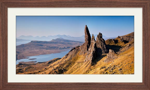 Old Man of Storr Panorama - Framed Print with Mount