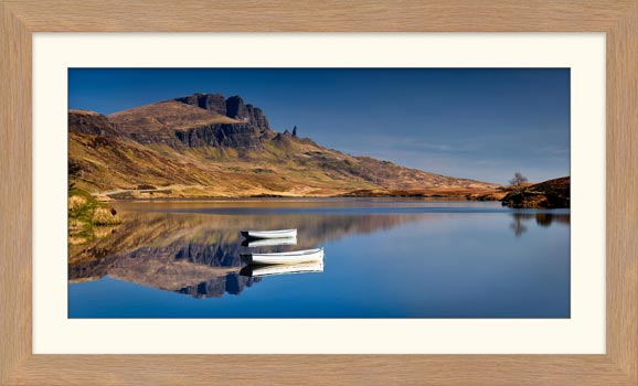 Peaceful Morning at Loch Fada - Framed Print with Mount