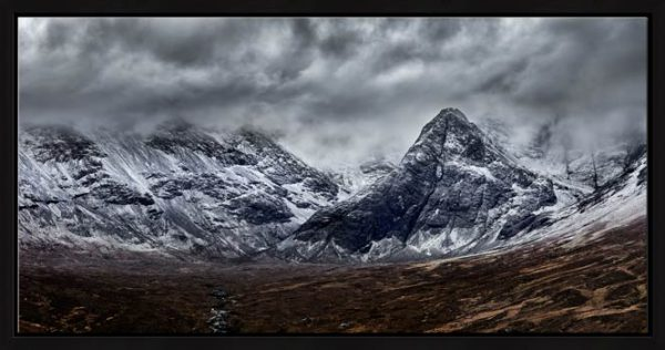 Black Cuillins Snow Fall - Modern Print