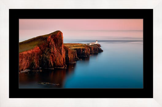 Calmness at Neist Point Lighthouse - Framed Print with Mount