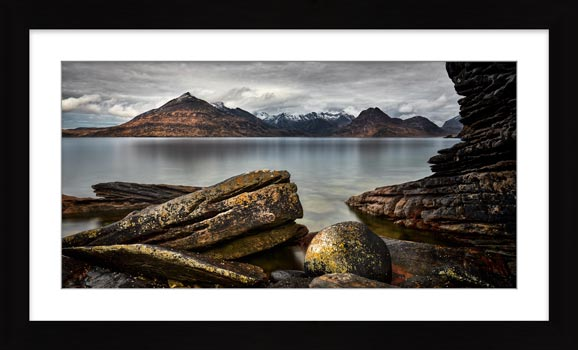Cuillin Mountains From Elgol - Framed Print with Mount