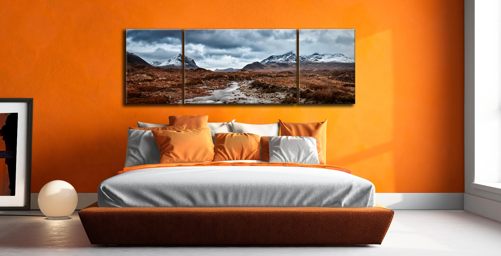 Glen Sligachan Panorama - 3 Panel Wide Mid Canvas on Wall
