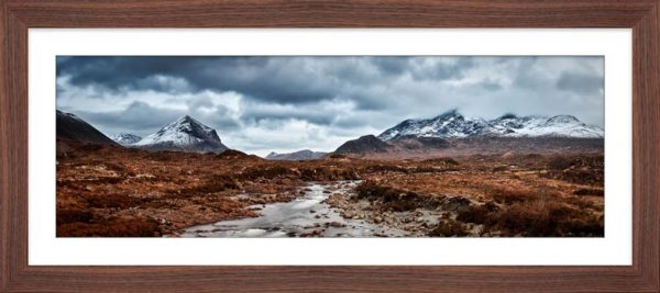 Glen Sligachan Panorama - Framed Print with Mount