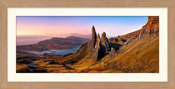 Old Man Storr Golden Light - Framed Print with Mount