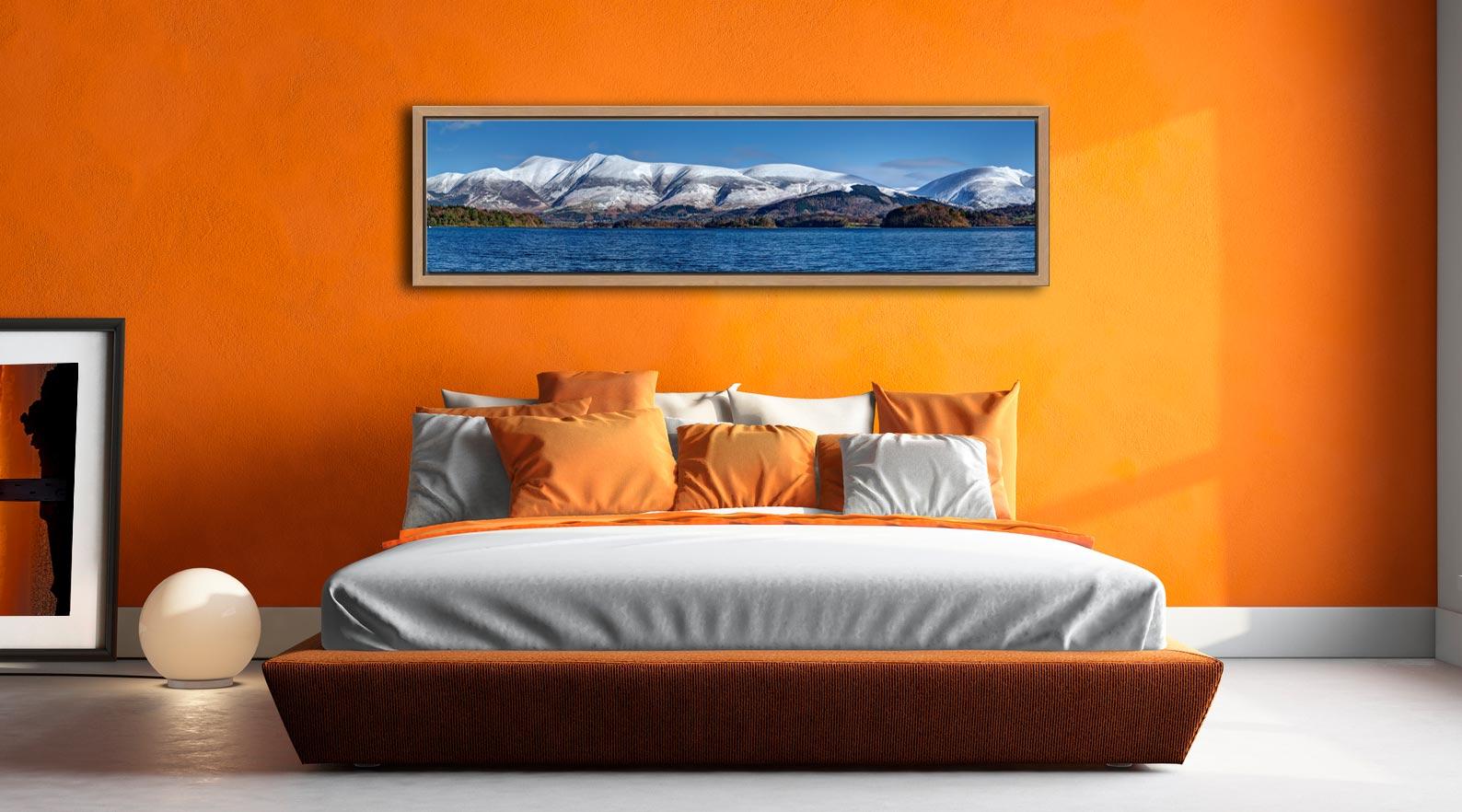 Skiddaw and Saddleback - Oak floater frame with acrylic glazing on Wall