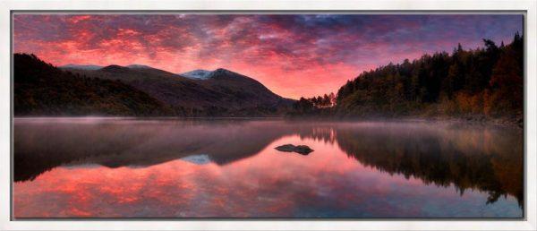 Thirlmere Autumn Sunrise - Modern Print