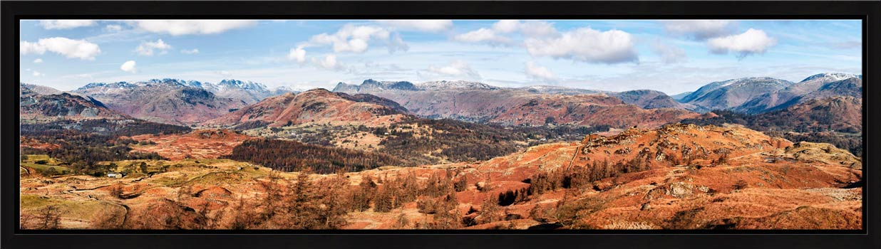 The Langdale Mountains - Modern Print