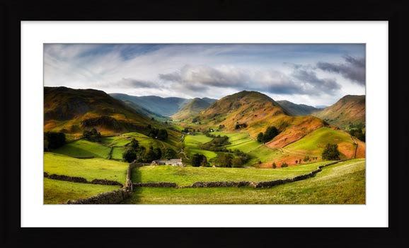 Green Fields of Martindale - Framed Print with Mount