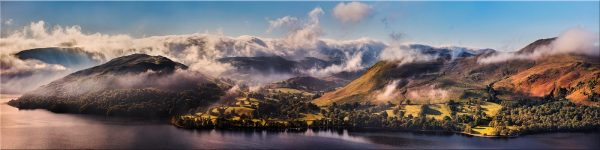 Ullswater Clouds and Mists - Canvas Print