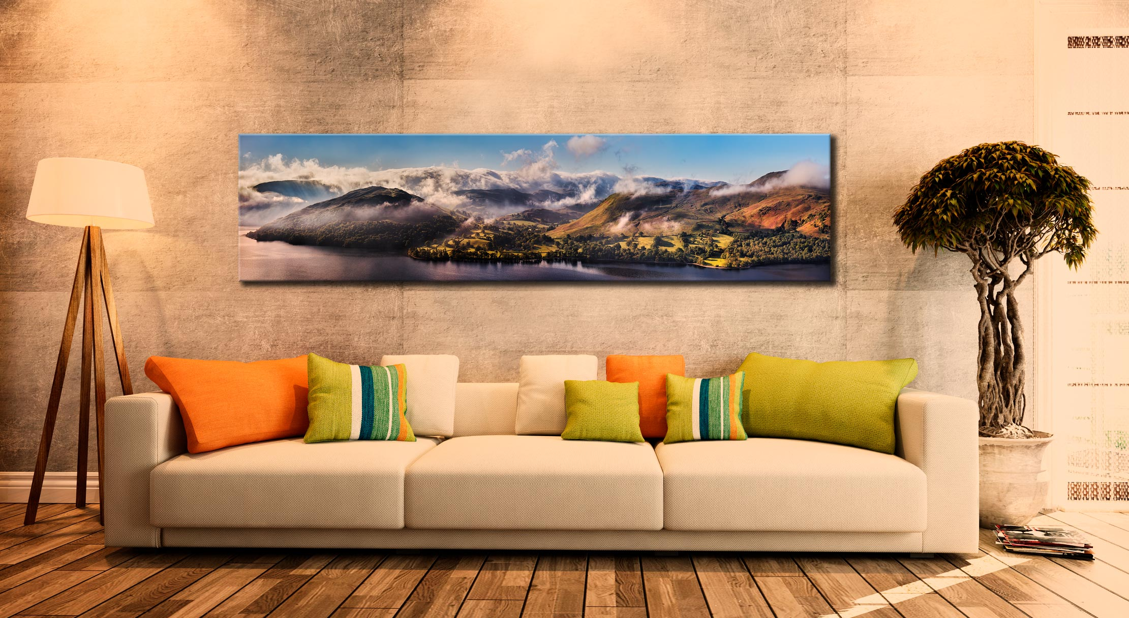 Ullswater Clouds and Mists - Lake District Canvas on Wall