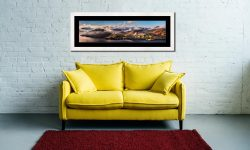 Ullswater Clouds and Mists - Framed Print with Mount on Wall